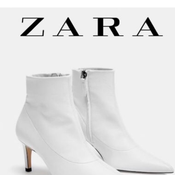 Leather Zara Ankle Booties Size Size